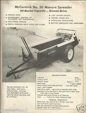 Farm Equipment Brochure - McCormick - 30 - Manure Spreader - c1956 (F3551)