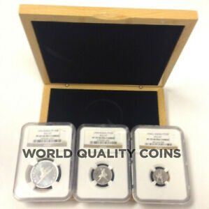 Russia 1994 Set 3 Platinum Coins Ballet Ballerina NGC PF 70-69 Box