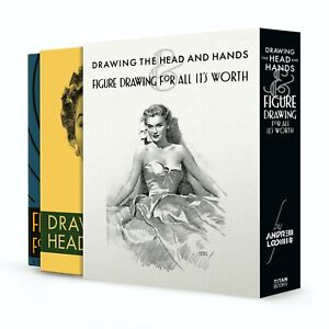 Drawing the Head and Hands & Figure Drawing (Box Set) by Andrew Loomis HB NEW