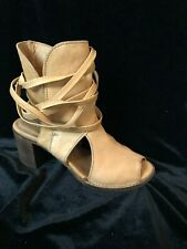 Area Forte Anthropologie Open Toe Strappy Booties Leather - Sz 7.5 - Fawn