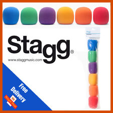 Stagg Microphone Windshields Multi Colour Pack of Six | 6 Pack | WS−S20/C6