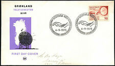 Greenland 1975 Telecommunications FDC First Day Cover #C41458