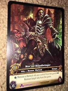 World of Warcraft TCG Card Scourgewar Mor'zul Bloodbringer Ext Art EPIC #213 x3