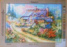"Needlepoint tapestry canvas.Landscape 45x60cm (17.5x23.5"") Gobelin 14.802"