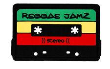 Cool Reggae Retro Cassette Mixtape PVC Rubber Silicon Patch 10cm Applique