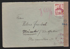 Poland 1952 Cover with Censor Tape 6 Year Economic Plan 30+15Gr from Olsztyn