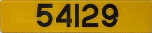 Guernsey UK Channel Island Car Number License Licence Plate 54129