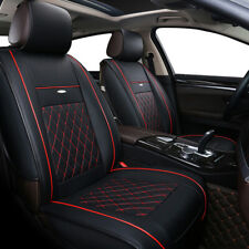 Car Seat Covers Protector 5-Seats Cushion Black Luxury Pu Leather Universal Suv