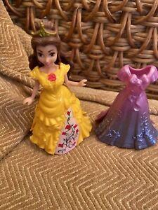 DISNEY PRINCESS BELLE MAGICLIP MAGIC CLIP DOLL & 2 DRESSES BEAUTY & THE BEAST