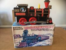 VINTAGE TINPLATE TOY TOWN SHINSEI JAPAN BATTERY OPERATED MIGHTY EXPRESS TRAIN