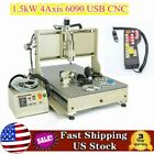 HOT!USB 4Axis CNC 6090 1.5KW Router Engraver Cutting 3D Milling Drilling Machine