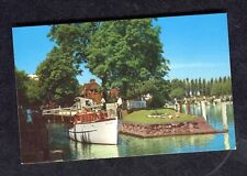 Dated 1988 View of a Boat going through Coversham Lock
