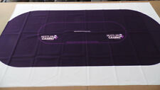 8' Poker Table Layout - Purple - Ultra-Glide ™ Polyester - NEW Factory Second