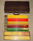 Vintage 1930's Beautiful Bakelite Catalin Mahjong Set with 152 Pieces + Access.