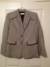 GARFIELD & MARKS Pants Suit  - Brown/White Hounds Tooth Coat and Slacks - Size 8