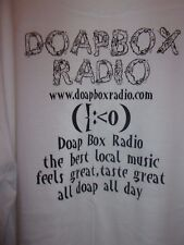 Dope Box Radio white graphic XL t shirt local music