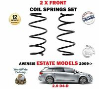 FOR TOYOTA AVENSIS 2.0 D4D ESTATE MODEL ONLY 2009->NEW 2 X FRONT COIL SPRING SET