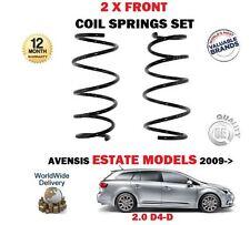 Per TOYOTA AVENSIS 2.0 d4d estate modello solo 2009 - > NUOVO 2 X Anteriore Molla Elicoidale Set