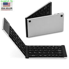Aluminum Foldable Wireless Bluetooth Keyboard iPhone iPad iOS Windows Android
