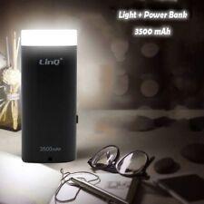 Batteria Esterna Power Bank 3500Mah Con Torcia Luce Led Smartphone Linq Lighthou