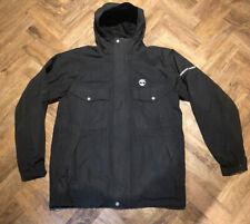Mens Small / Medium Timberland Waterproof Jacket Coat Black Hooded Walk Hike