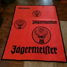 "Huge 6'7"" X 5' Jagermeister Fleece Blanket Throw Made in Germany Flausch-Decke"