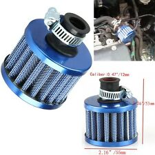 12mm Car Motor Cold Air Intake Filter Turbo Vent Crankcase Air Breather Blue