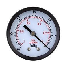 -30inHg/ -1bar Mini-cadran Indicateur Pression de Vide d'air Manomètre