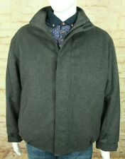 PAUL & SHARK YACHTING ITALY GRAY MOSSMER WOOL/ALPACA BOMBER CAR COAT SIZE L VGC!