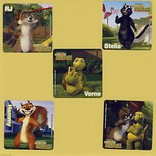 15 Over the Hedge - Large Stickers - Party Favors - Stella, RJ, Hammy, Verne