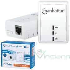 SimpleNet Starter Kit 2 Adattatori di rete powerline AV500 Manhattan tv consolle