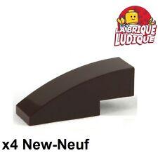 Lego - 4x Slope curved pente courbe 3x1 marron foncé/dark brown 50950 NEUF