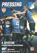 Stadionheft Programm 15/16 TSG Hoffenheim VfB Stuttgart 2015/2016