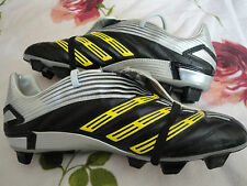 Rare ADIDAS PREDATOR ABSOLUTE Black/Yellow FG Soccer Football Boots Size 8.5