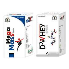 Weight Gainer Supplements To Build Muscle Mass Mega Mass 30 + D-Whey 30 Capsules