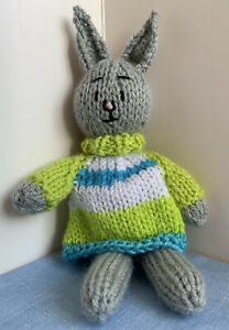 FANTASTIC Hand-knitted 'BUNNY RABBIT'! Great Gift
