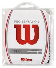 12 Wilson Pro Overgrip Sensation Grips/Overgrips - Black - Free P&P