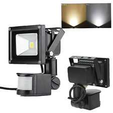 LED Flood Light PIR Motion Sensor Building 10W Garden Outdoor 12V Spotlight