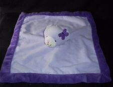 TIDDLIWINKS PURPLE TEDDY BEAR BABY SECURITY BLANKET STUFFED PLUSH TOY SOFT LOVEY