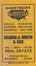 1937 Trailways Blueway Boston to New York Schedule, Advertising