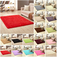 7 tamaños mullido suave antideslizante alfombra pelo largo Comedor Dormitorio