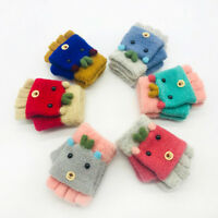 Toddler Children Girls Boys Winter Cartoon Animal Keep Warm Mittens Gloves