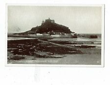 CORNISH POST CARD ST. MICHAEL`S MOUNT. PENZANCE, TIDE OUT