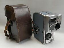 Trapunta Vintage 1940s abefot Pentacon AK 8 CINEPRESA lenti Zeiss Jena TRIOTAR 2.8/10 & Custodia