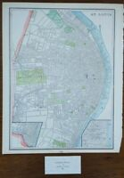 "Vintage 1900 ST LOUIS MISSOURI Map 11""x14"" Old Antique Original BENTON PARK"