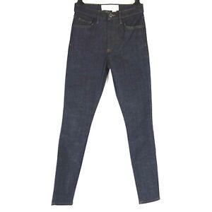 Victoria Beckham Jeans pour Femmes Pantalon Jeans Bleu Haut Taille Skinny Neuf