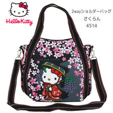 Japan 5271 Hello Kitty Tote Bag Shoulder Bag 2way 桜(Cherry Blossoms)cute �