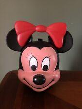 Vintage Aladdin Disney Minnie Mouse Head PlastiC Lunch Box