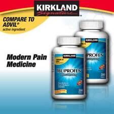 Kirkland Signature Ibuprofen 200mg 2 Bottles=1000 Tablets - New - Free Shipping!