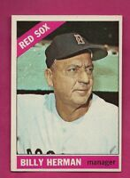 1966 TOPPS # 37 RED SOX BILLY HERMAN  MANAGER NRMT+ CARD (INV# A5442)